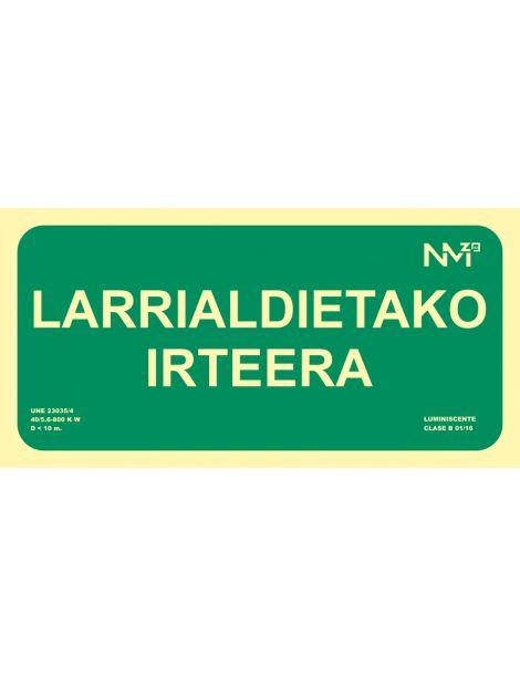 SEÑAL LARRIALDIETAKO IRTEERA