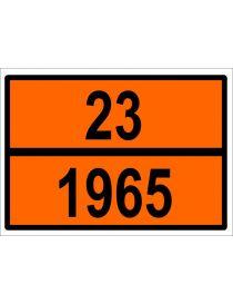 Placa Mercancias Peligrosas Butano Grabada 23/1965