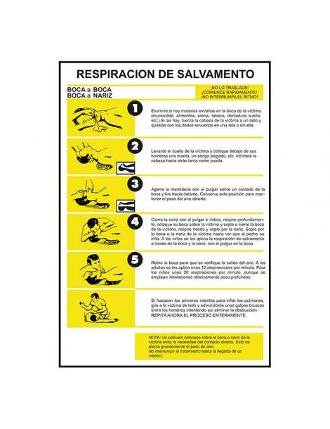 SEÑAL RESPIRACIÓN DE SALVAMENTO