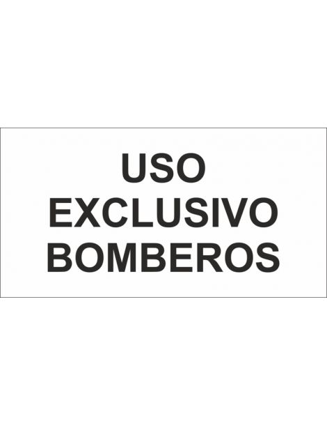 ADHESIVO TRANSP USO EXCLUSIVO BOMBEROS