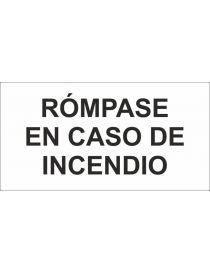 ADH RÓMPASE EN CASO DE INCENDIO