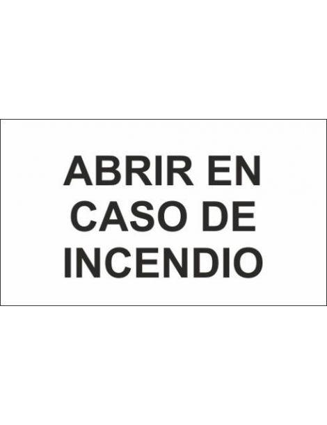 ADH ABRIR EN CASO DE INCENDIO