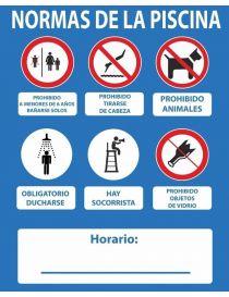 CARTEL NORMAS DE PISCINA