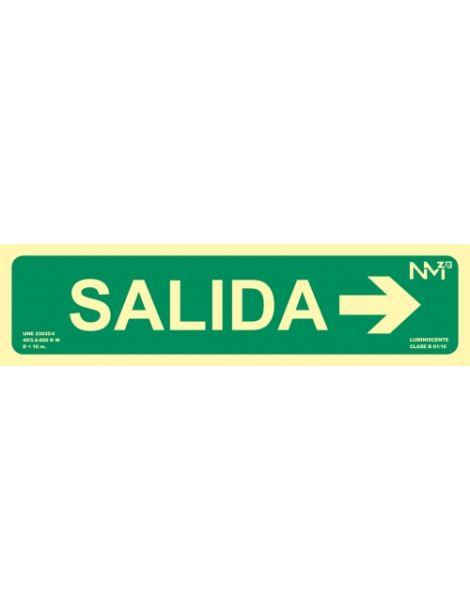 Señal SALIDA CON FLECHA DERECHA