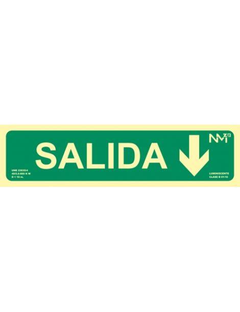 SEÑAL SALIDA CON FLECHA HACIA ABAJO