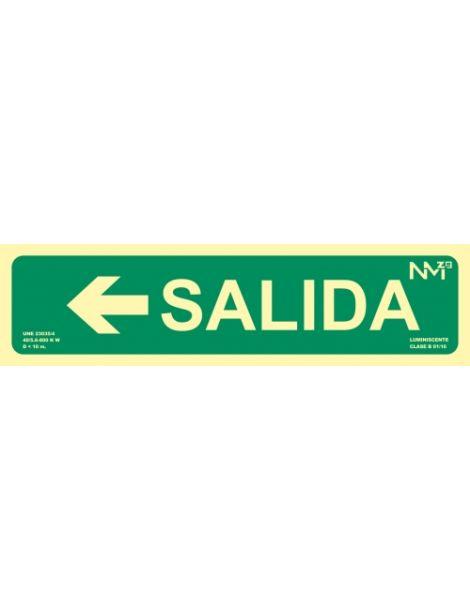 SEÑAL SALIDA CON FLECHA IZQUIERDA