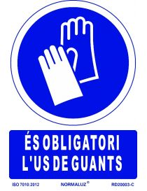 SEÑAL OBLIGATORI US DE GUANTS