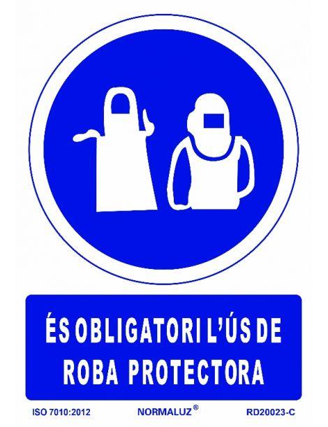 SEÑAL OBLIGATORI US DE ROBA PROTECTORA