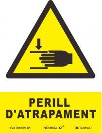 SEÑAL PERILL D'ATRAPAMENT