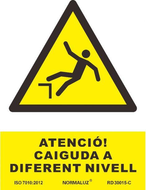 SEÑAL PERILL DE CAIGUDA A DIFERENT NIVELL