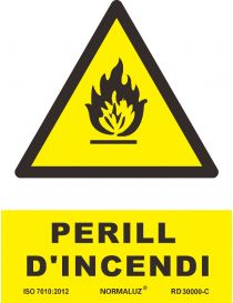 SEÑAL PERILL D'INCENDI