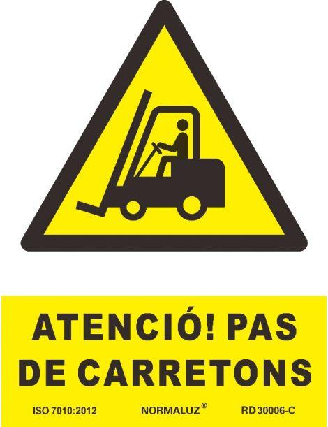 SEÑAL PERILL PAS DE CARRETONS