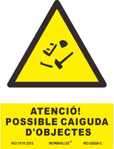 SEÑAL PERILL POSSIBLE CAIGUDA D'OBJECTES
