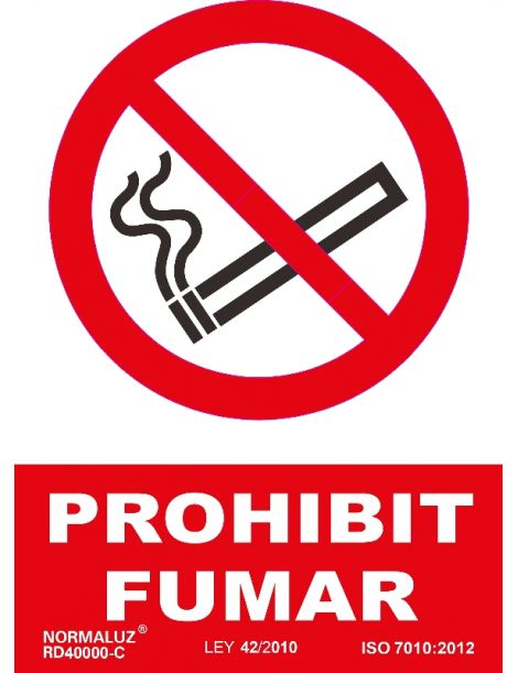 SEÑAL PROHIBIT FUMAR