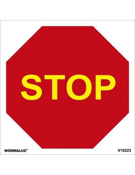 SEÑAL OBRAS PVC STOP