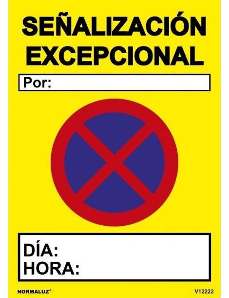 SEÑAL OBRAS PVC SEÑALIZACIÓN EXCEPCIONAL