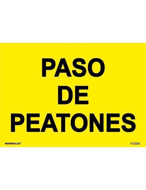 SEÑAL OBRAS PVC PASO DE PEATONES