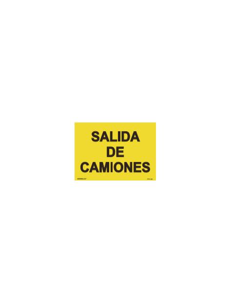 SEÑAL OBRAS PVC SALIDA DE CAMIONES
