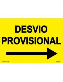 SEÑAL OBRAS PVC DESVIO PROVISIONAL
