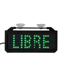 Letrero taxi libre LED