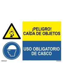 PELIGRO CAÍDA OBJETO/OBLIGATORIO CASCO