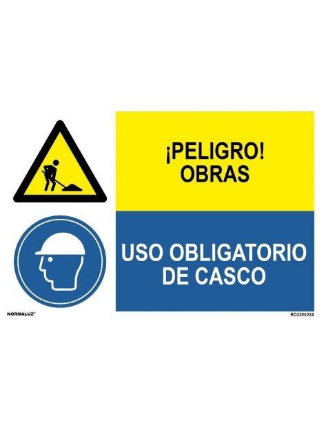 PELIGRO OBRAS/OBLIGATORIO CASCO