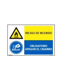 RIESGO DE INCENDIO/OBLIGAT. APAGAR CIGARRO