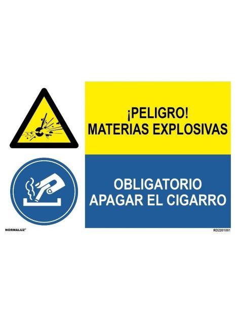 MATERIAS EXPLOSIVAS/OBLIGAT. APAGAR CIGARRO