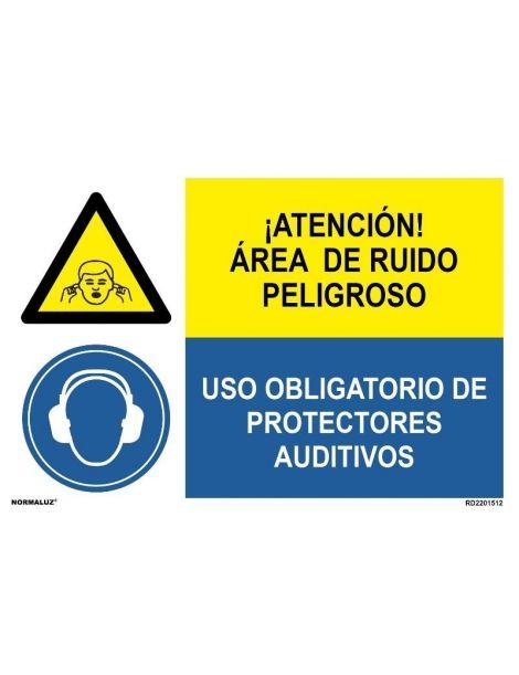 AREA DE RUIDO PELIGROSO/OBLIGAT. PROTECTORES AUDITIVOS