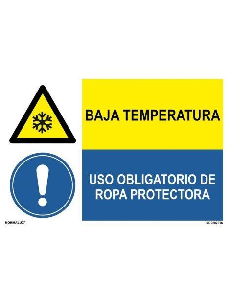 BAJA TEMPERATURA/OBLIGAT. ROPA PROTECTORA