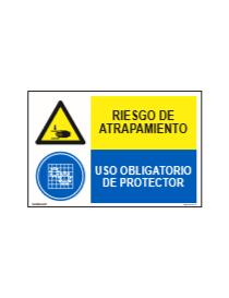 RIESGO DE ATRAPAMIENTO/OBLIGATORIO PROTECTOR