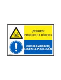 PELIGRO PRODUCTOS TÓXICOS/OBLIGAT. EQUIPO DE PROTECCIÓN