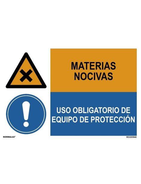 MATERIAS NOCIVAS/OBLIGAT. EQUIPO DE PROTECCIÓN