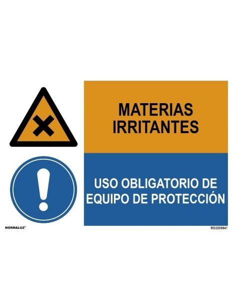 MATERIAS IRRITANTES/OBLIGAT, EQUIPO DE PROTECCIÓN