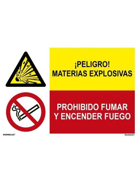 MATERIAS EXPLOSIVAS/PROHIBIDO FUMAR Y ENCENDER FUEGO