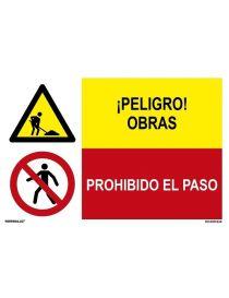 PELIGRO OBRAS/PROHIBIDO EL PASO