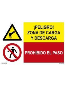 ZONA DE CARGA Y DESCARGA/PROH. EL PASO