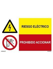 RIESGO ELÉCTRICO/PROHIBIDO ACCIONAR