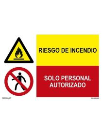 RIESGO DE INCENDIO/SOLO PERSONAL AUTORIZADO