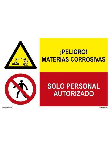 MATERIAS CORROSIVAS/SOLO PERSONAL AUTORIZADO