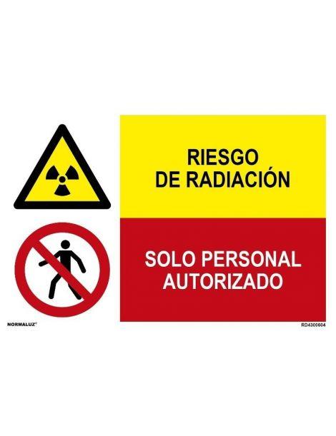 RIESGO DE RADIACIÓN/SOLO PERSONAL AUTORIZADO