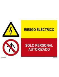 RIESGO ELÉCTRICO/SOLO PERSONAL AUTORIZADO