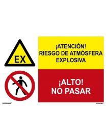 RIESGO DE ATMÓSFERA EXPLOSIVA/¡ALTO! NO PASAR