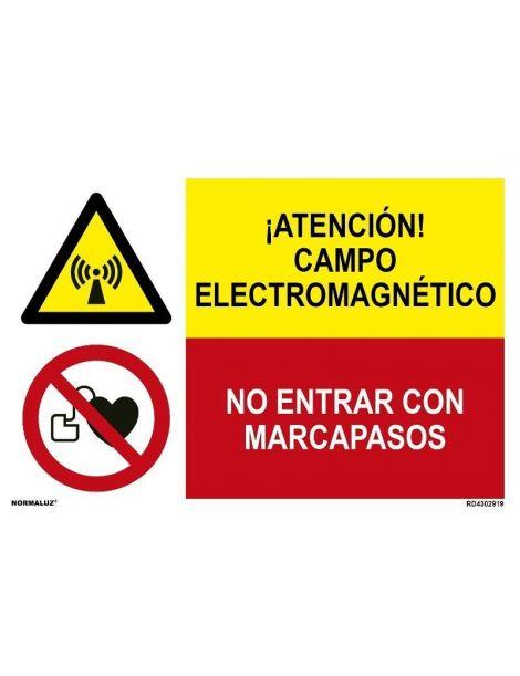 ¡ATENCIÓN! CAMPO ELECTROMAGNÉTICO/NO ENTRAR CON MARCAPASOS