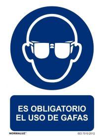 Señal Es obligatorio el uso de gafas