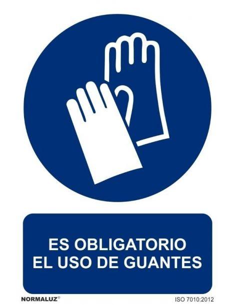 Señal Es obligatorio el uso de guantes