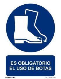 Señal Es obligatorio el uso de botas