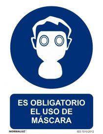 Señal Es obligatorio el uso de la máscara