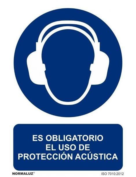 Señal Es obligatorio el uso de protección acustica