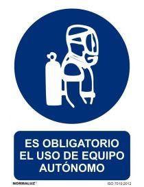 Señal Es obligatorio el uso de equipo autónomo